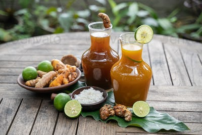 Javanese traditional herbal health drinks