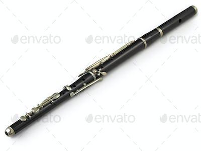 flute on white background