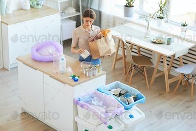 Woman doing housework