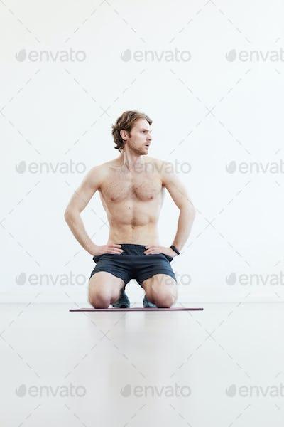 Muscular sporty man