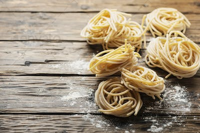 traditional pasta Pici of Tuscany