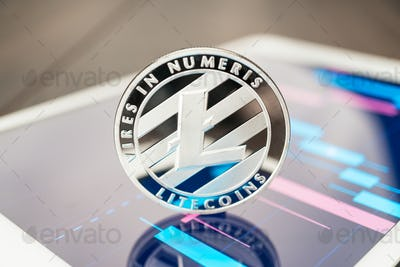 Litecoin Cryptocurrency On The Tablet