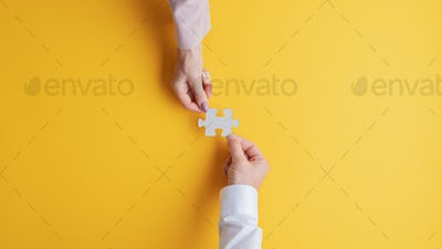 Business teamwork and cooperation