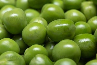 Macro of Green pea background
