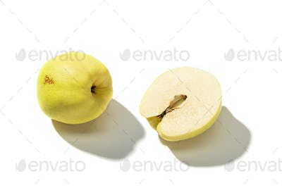 Fresh Quince fruit isolated on white background