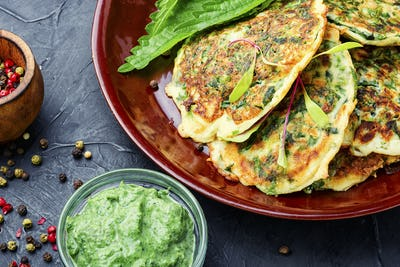 Diet fritters with herbs