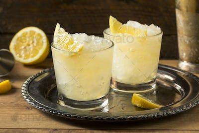 Boozy Lemon Whiskey Smash Cocktail