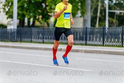 man runner athlete in compression socks