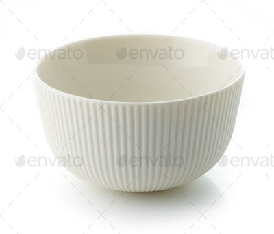 empty white bowl