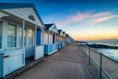 Beach huts on the promenade at Southwold