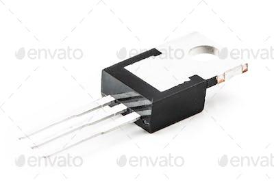 Electronic transistors on a light background