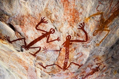 Aboriginal pictograph, Kakadu National Park, Arnhem Land, Australia