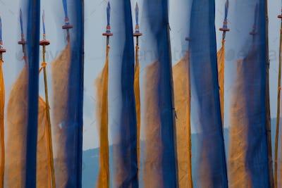 Prayer flags, Paro Valley, Bhutan