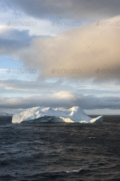 An iceberg on the waters of the Southern Ocean.
