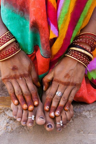 Henna hands, Rajasthan, India