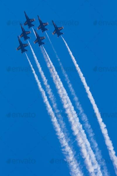 Blue Angels perform at Seafair, Seattle, Washington, USA