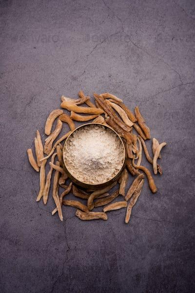 Safed Musli or Shwet Moosli is an Indian Ayurvedic Potent Herb