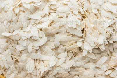 Puffed Rice Poha - Uncooked or Raw, selective focus