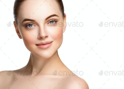 Woman beauty clean healthy skin cosmetic face spa concept