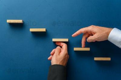Conceptual image of business partnership