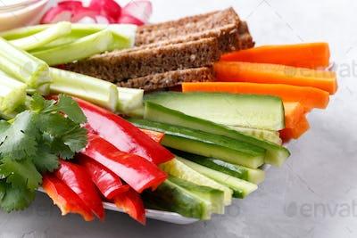 Healthy fresh vegetables snack