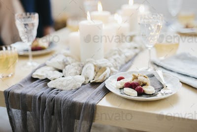 A table for a celebration meal