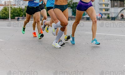 legs runners athletes women and men