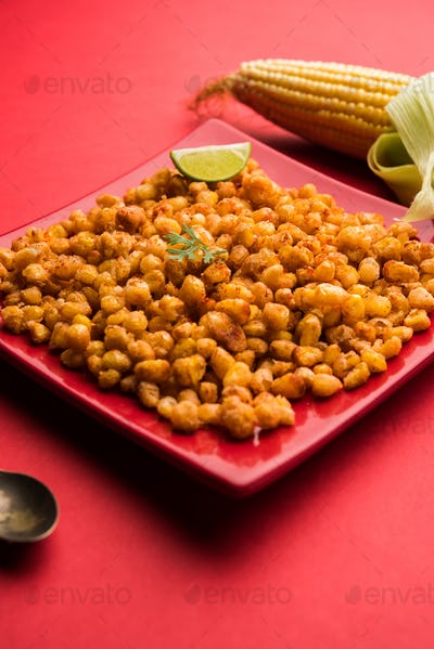 Crispy Fried Corn or Kernels or Pakora