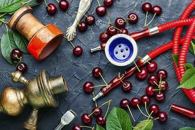 Turkish shisha with cherry.