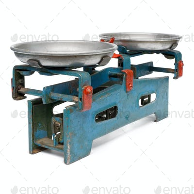 Old commercial weight scales