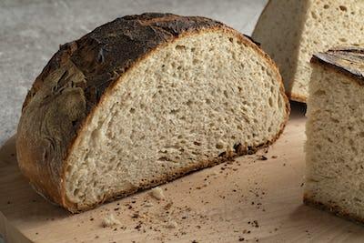 Fresh baked German farmers bread