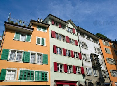 Typical old houses in Zurich