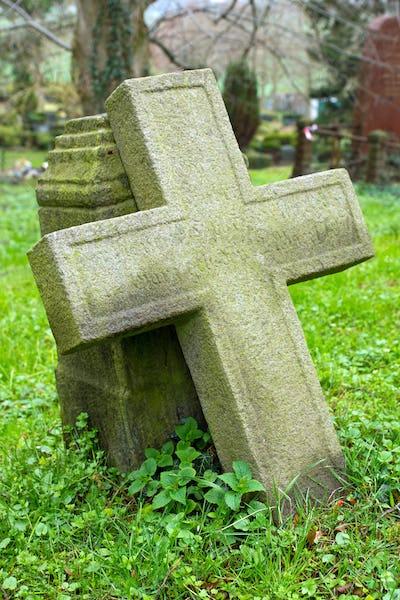Cross on a cemetary