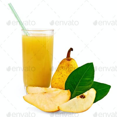 Juice pear with pear