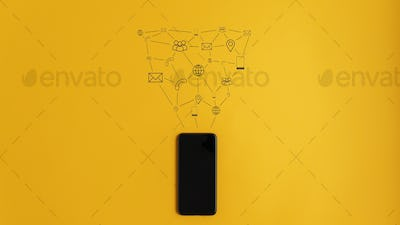 Conceptual image of communication and connection