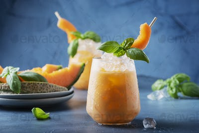 Sweet summer liquor with melon