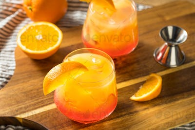 Boozy Refreshing Tequila Sunrise Cocktail