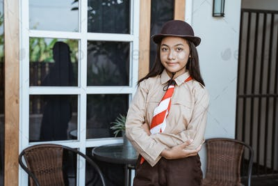 beautiful indonesian junior high school student