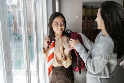 junior high school teen student are going to schoo