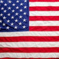 USA flag, US of America sign symbol background, top view