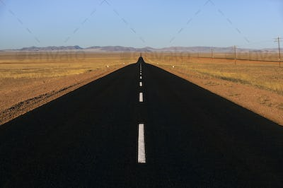 Tarred road near Luderitz, Namibia