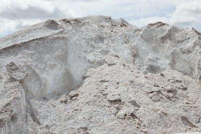 Pile of salt used for road maintenance