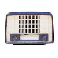 Old radio isolated 02