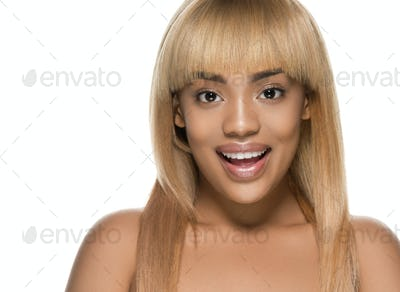 Woman beauty afro american female beautiful skincare