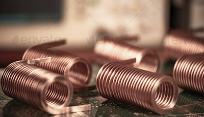 Close-up of twisted copper wire