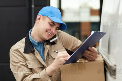 Man working in delivery service