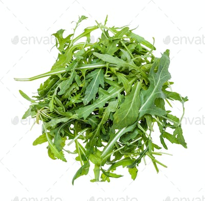 top view of pile from leaves of Arugula isolated