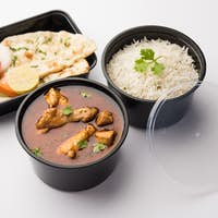 Chicken Curry Masala packed in plastic container for home delivery