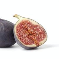One and a half fresh ripe fig