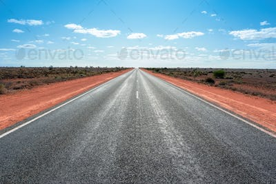 longest straight road in Australia